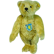 "Steiff ""Giengen"" Teddy Bear, 1906 Replica, 1980's"