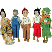 1935 Pinn Family Wooden Era Depression Dolls, Schoenut