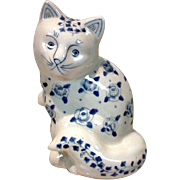 Vintage, Blue Wear Cat Figure
