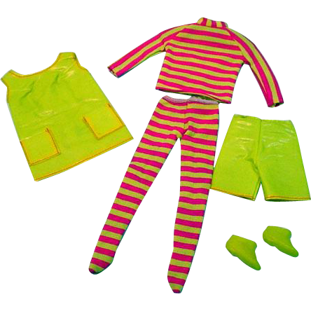 Vintage Mattel Barbie Outfit, Tunic 'n Tights, 1968