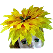 Madame Alexander Cissy Size Flower Cocktail Hat, Artist Made