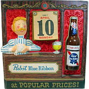 Vintage, Pabst Blue Ribbon, Dealer Calendar from 1967