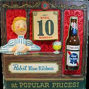 Vintage, Pabst Blue Ribbon, Dealer Calendar from 1967