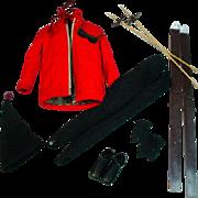 Vintage Mattel Ken Outfit, Ski Champion, 1963
