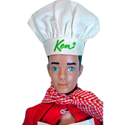 Vintage Mattel Ken Doll in Cheerful Chef, 1964