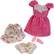 Vintage Mattel Francie Outfit, Pink 'N Pretty, 1972