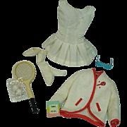 Vintage Mattel Barbie Outfit, Tennis Anyone, 1962