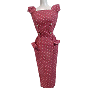 Vintage Mattel Barbie Outfit, Sheath With Gold Buttons, 1962