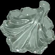 Vintage Baccarat Leaf Jewelry Holder