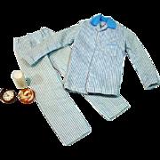 Vintage Mattel Ken  Outfit Sleeper Set, In Blue, 1964