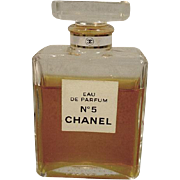 Vintage Bottle of Chanel No. 5 Perfume, 1960's