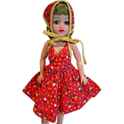 Ideal Little Miss Revlon Doll in Sun Dress and Scarf, 1950's