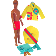 Vintage Mattel Ken Surf's Up Gift Set Doll and Outfit, 1971