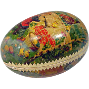 Vintage Paper Mache Easter Egg/Candy Container, Germany