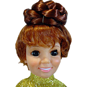"Ideal Growin Hair Crissy Doll in ""Turned On Mini"" 1969"