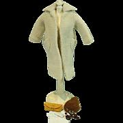 Vintage Barbie Outfit Peachy Fleecy Coat , TM,1959, Complete