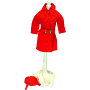 Vintage Mattel Barbie Outfit, Red For Rain, 1971