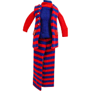 Vintage Mattel Francie Outfit, Striped Types, 1970