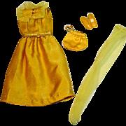 Vintage Mattel Barbie Outfit, Golden Glitter, 1972