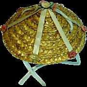 VIntage Madame Alexander Elise Size Beach Hat, 1950's