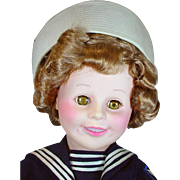 """MInt 30"""" Shirley Temple, 'Captain January' Doll Signed by ARTIST Dating from 1986"""