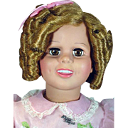 "35"" Shirley Temple, 'Play Pal Doll' from 1987, Mint and Complete with Stand"