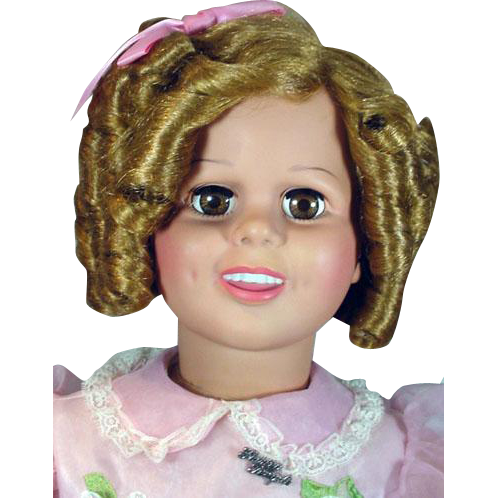 """35"""" Shirley Temple, 'Play Pal Doll' from 1987, Mint and Complete with Stand"""
