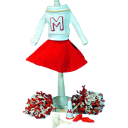 Vintage Mattel Barbie Outfit, Cheerleader, Complete, from 1964!
