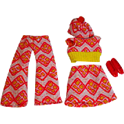 Vintage Mattel Skipper Outfit, Turn Abouts, 1972