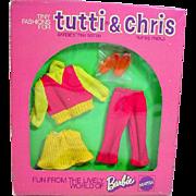 NRFB Mattel Tutti&Chris Outfit, Pant Suit, 1974, Variation!