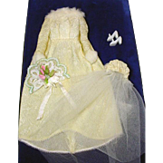 Vintage Mattel Barbie Outfit, Winter Wedding, 1969