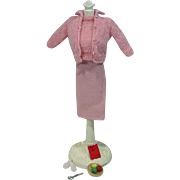 Vintage Mattel Barbie Outfit, Knitting Pretty (Pink), 1964