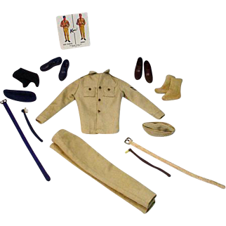 Vintage Mattel Ken Outfit, Army and Air Force, 1963