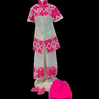 Vintage Mattel Barbie Outfit, Fun Flakes, 1971