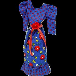 Vintage Mattel Barbie Best Buy Peasant Dress, 1973