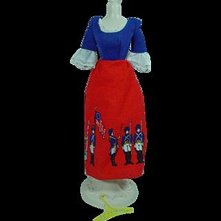 Vintage Mattel Barbie Best Buy Bicentennial Dress, 1976