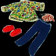 Vintage Mattel Tutti Outfit, Skippin' Rope, Color Variation, 1966