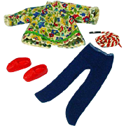 Vintage Mattel Tutti Outfit, Skippin' Rope, Color Variation, 1966