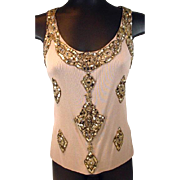 Ladies, Had Beaded, Sleeveless Evening Top