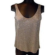 Fabulous, Beaded, Ladies, Double Scoop Evening Top