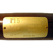 Hank Aaron Commemorative Bat, serial Number 17032