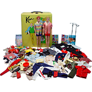 Vintage Mattel Ken&Allan Lot, Dolls, Clothing, Accessories, Case 1964