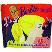 Vintage Barbie Sings, 45 RPM Record Set, Mattel, 1961