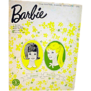 Vintage Mattel Barbie Magazine, March-April Issue, 1963
