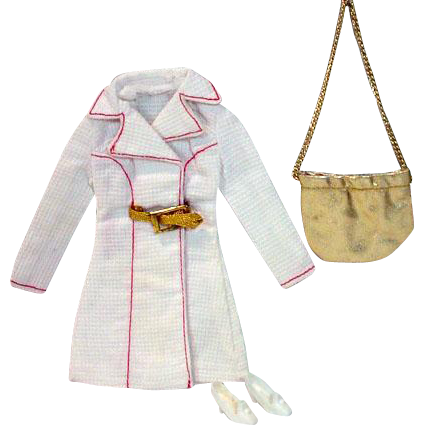 Vintage Mattel Barbie Outfit, White 'N With It, 1972