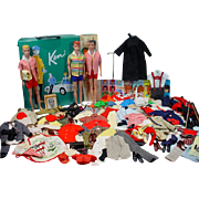 1960's  Mattel Ken&Allan Collection, Clothing, Case+Accessories