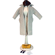 Vintage Mattel Barbie outfit, Peachy Fleecy Coat, 1960