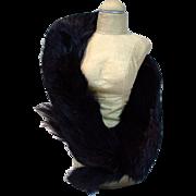 Vintage Madame Alexander Cissy Size Black Fur Stole, 1950's, Premier
