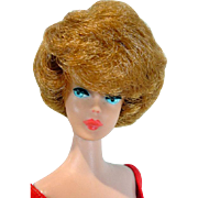 Vintage Mattel 1963 Bubble Cut Barbie with Titian Hair& Coral Lips