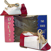 MIB Two Toned Saddle Shoes for 18-22 Inch Doll, 1950's